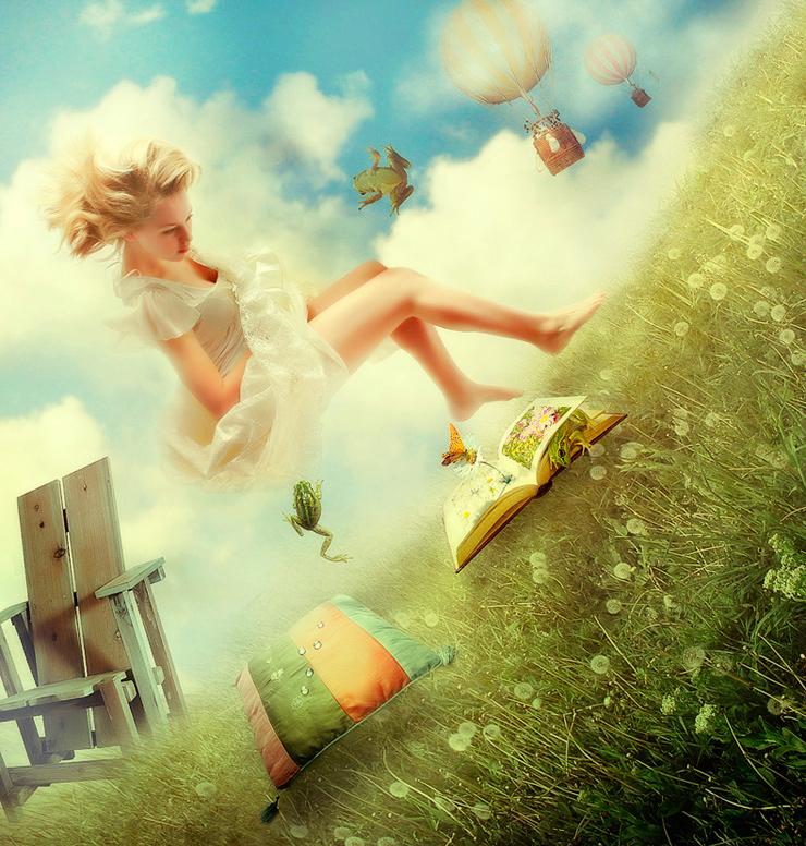 Девочка которая в мечтах картинка надпись