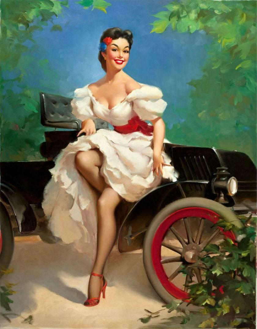 Рыжая девушка в стиле пип гел 26 фотография