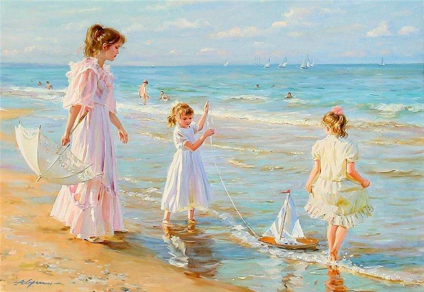 Фото русских девушек с моря — pic 6