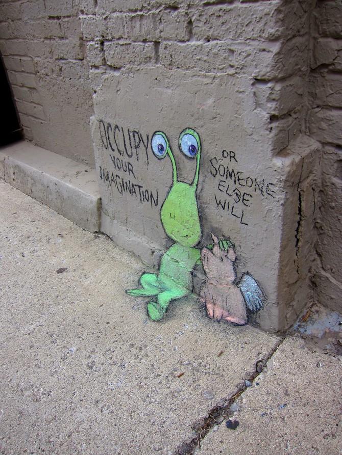Смешные рисунки на улице
