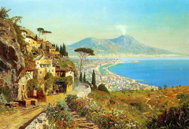 средиземноморские пейзажи обои на рабочий стол № 648684 без смс