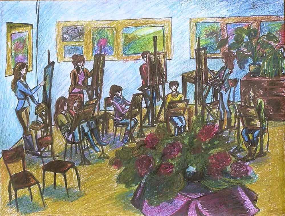 урок знакомства в художественной школе