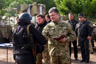 Порошенко на Донбассе