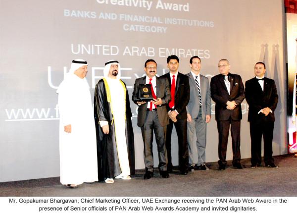 UAE Exchange's Facebook page wins PAN Arab Award - UAE Exchange