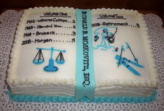 Lawyer Retirement Cake Decorating