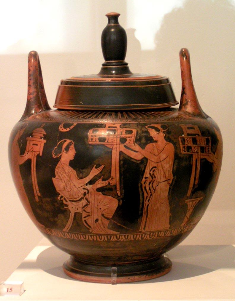 Древнегреческие вазы краснофигурного стиля