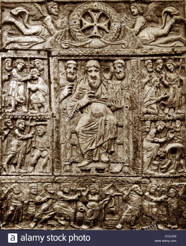 Византийская резная обложка из слоновой кости для Евангелия; 5-й век.jpg