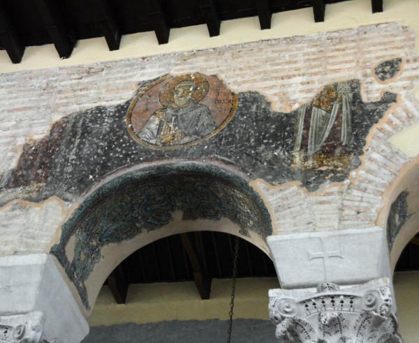 Базилика Ахиропиитос, Салоники. Сохранившиеся фрагменты росписи. 1230-е гг.