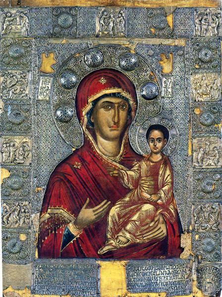 Одигитрия, XIV в., Афон, Монастырь Ватопед