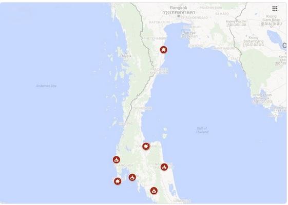 карта взрывов
