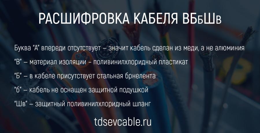 Расшифровка кабеля ВБбШв