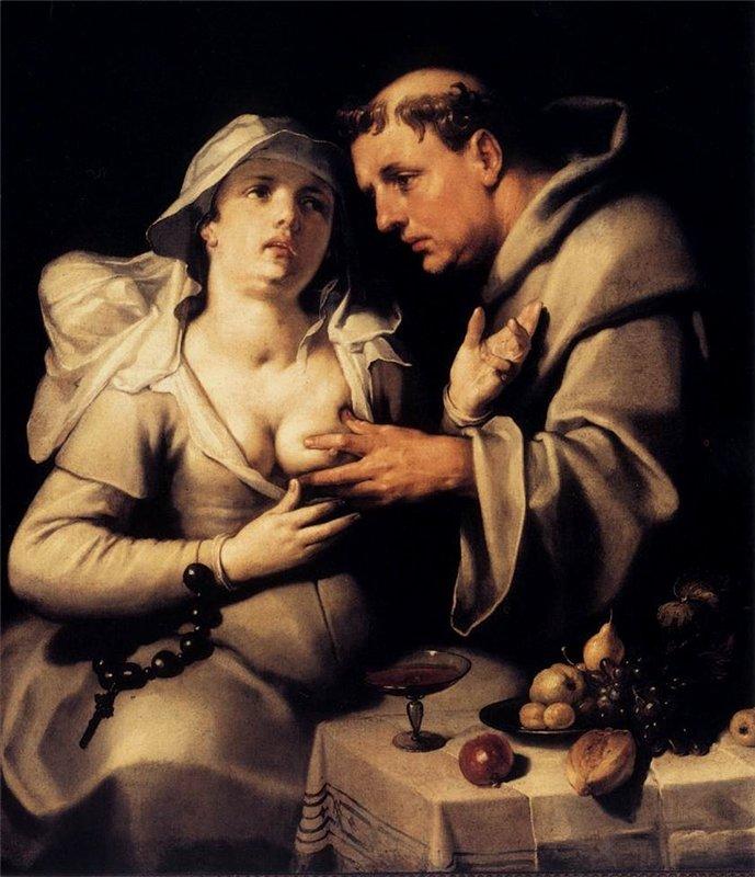 Корнелис Ван Харлем - Монах и монахиня