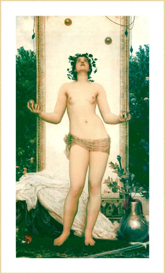 Фредерик Лейтон – Античная жонглирующая девушка