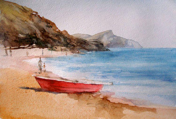 Море пляж лодка