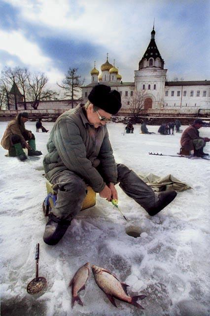 Кострома. Зимняя рыбалка. 2001