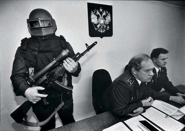 пресс- конференция налоговой полиции в Москве 1997