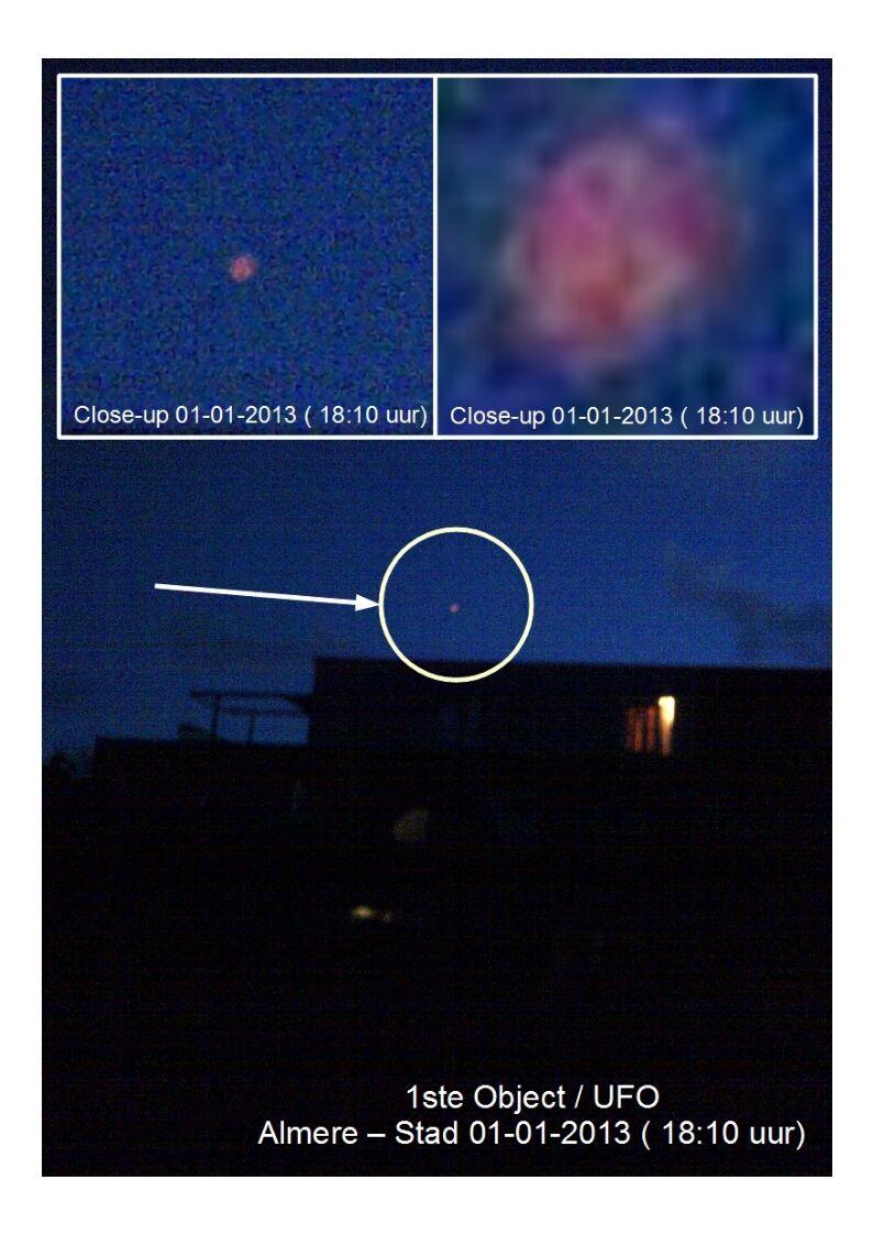 1a Object boven Almere met Aanwijzingen 01-01-2013