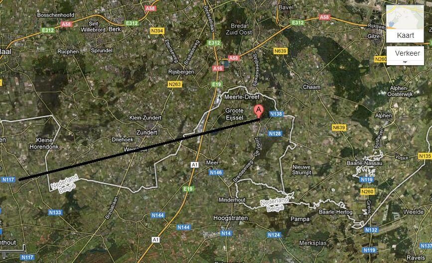 kaart ufo meerle