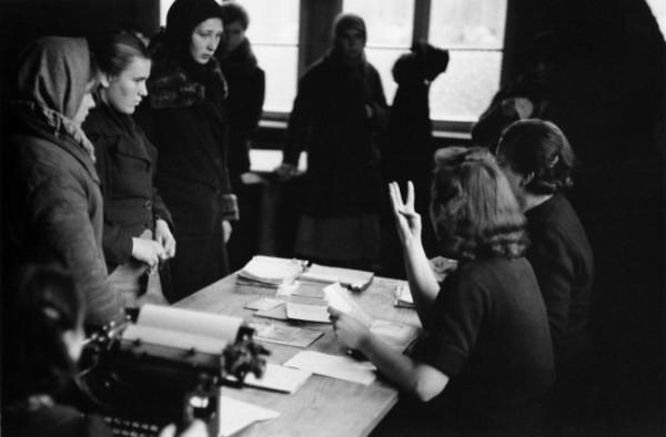 Регистрация в пересыльном лагере