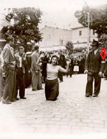 Львов погром женщина с понятыми руками (яд-вашем)+ стрелка