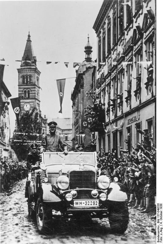 Гитлер - в Судетах 1938