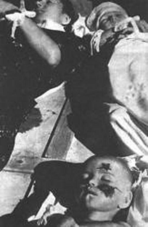 Мария Попель и 2 детей