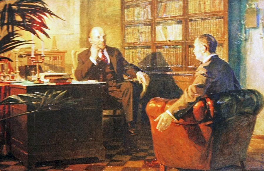 Роман Подобедов.Ленин беседует с Гербертом Уэллсом.1984