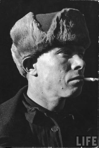 СССР, Магнитка, 1931 г.  Советские рабочие.  Маргарет Бурк-Уайт (США). 2