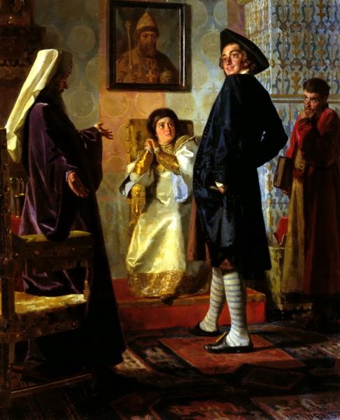 НЕВРЕВ Николай - Пётр I в иноземном наряде