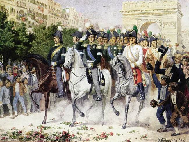 Алексей Кившенко. Вступление русских войск в Париж в 1814 году
