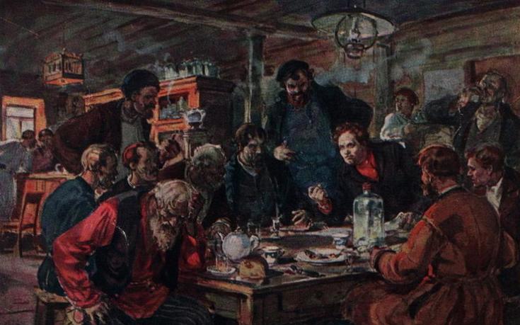 Савицкий Георгий. Совещание рабочих перед морозовской стачкой