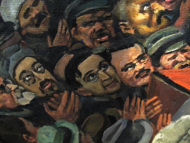 Юон. Лица участников 1 съезда Советов (фрагмент) 1927