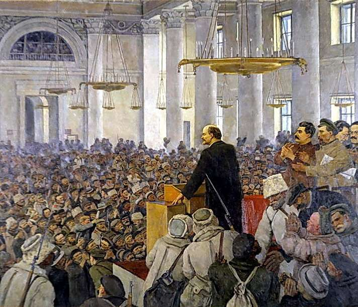 Юон К. Первое выступление В.И. Ленина в Смольном. 1935 2