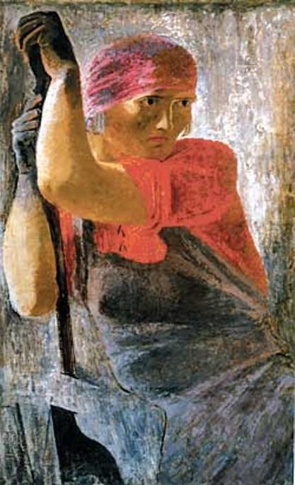 Самохвалов. Женщина с напильником. 1929