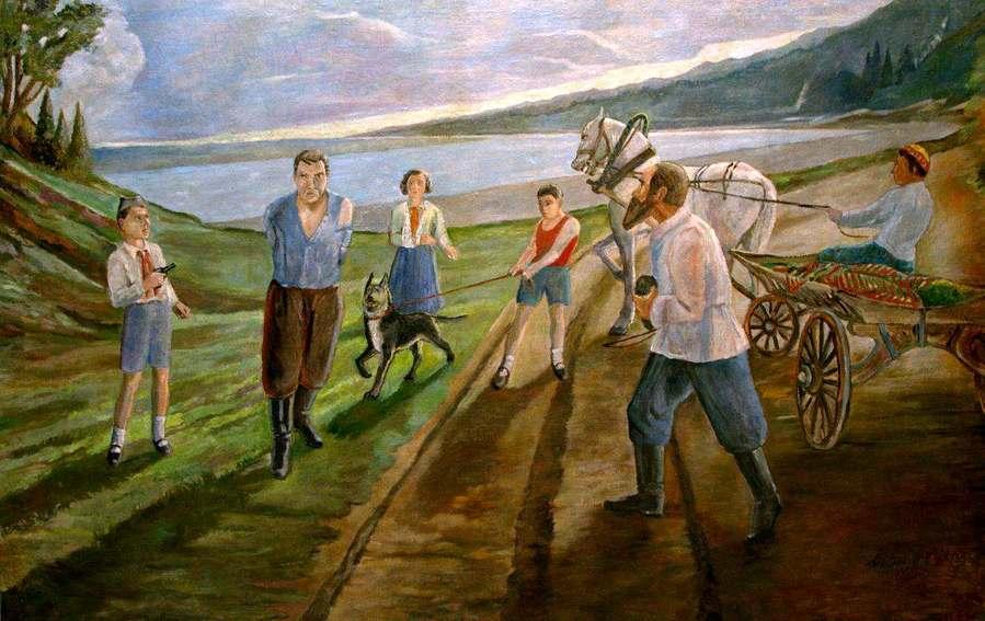 С. Светлов. Пионеры поймали английского шпиона.1939 год