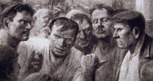 Антонов М. Разоблачение врага народа в цеху (фрагмент)