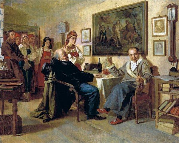 1 Николай Неврёв. Торг. Сцена из крепостного быта. 1866 г.