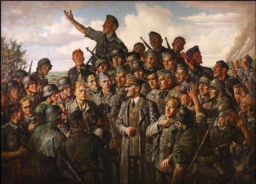 Э. Шайбе. А. Гитлер на фронте. 1943