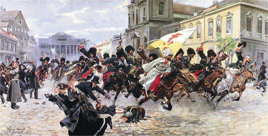 Войцех Коссак. Черкесы в Кракове. 1912 (восст-е 1846 г.)
