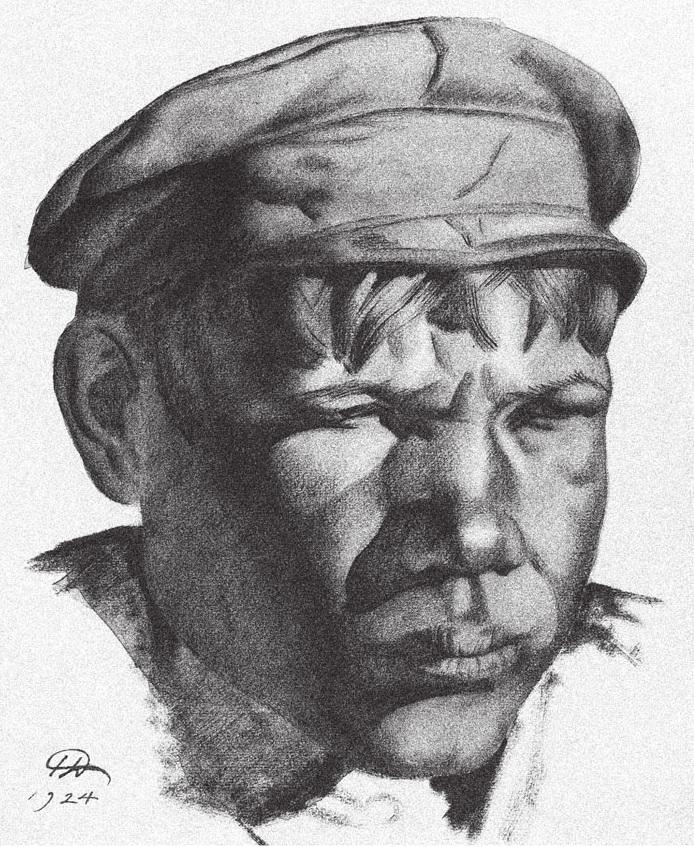 Николай Дормидонтов. Голова шахтера (кизеловские копи) 1924 2