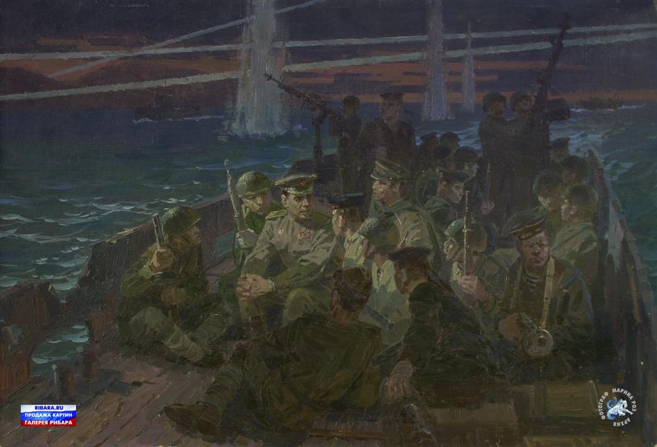 Мальцев Петр. Л.И.Брежнев под Новороссийском в 1943 году