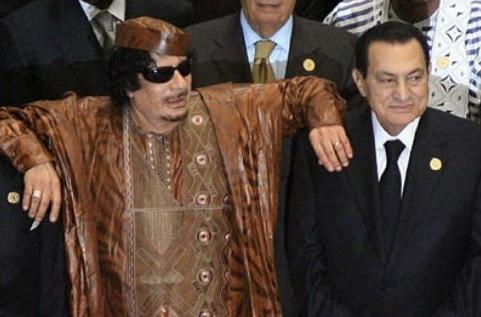 Мубарак и Каддафи