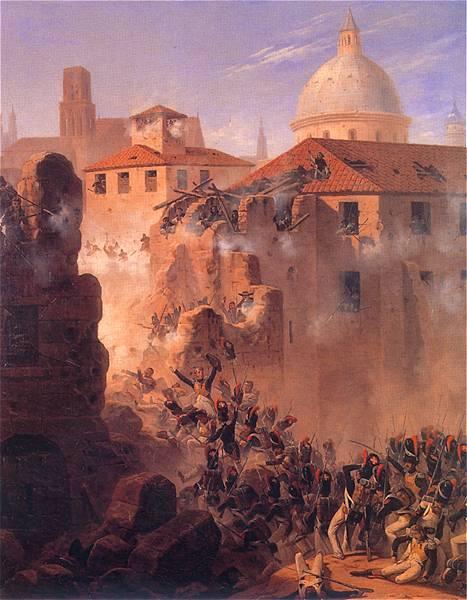Януарий Суходольский. Штурм Сарагосы. 1845