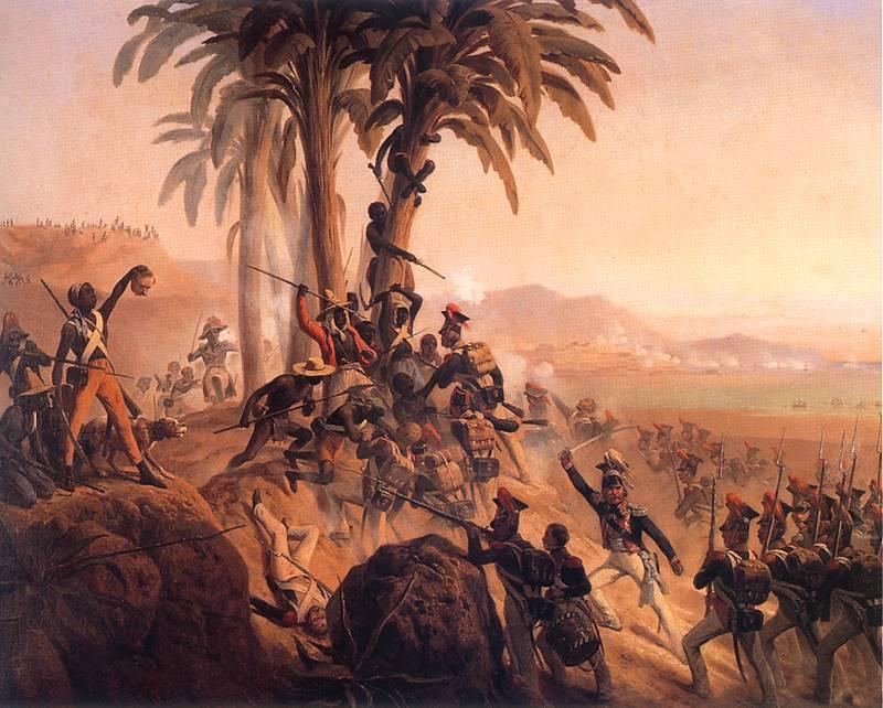 Януарий Суходольский. Битва на Сан-Доминго