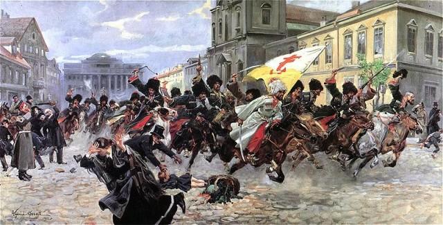 Войцех Коссак.Черкесы в предместье Кракова.1912