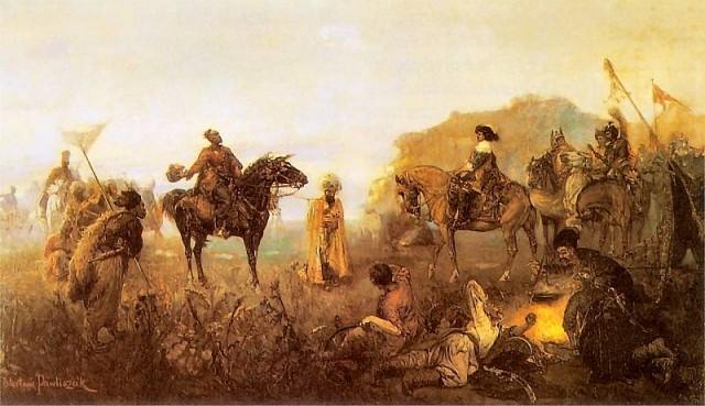 Вацлав Павлишак. Казацкий подарок. 1885