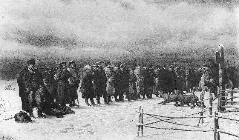 Аrthur Grottger. Pochod_na_Sybir.1867