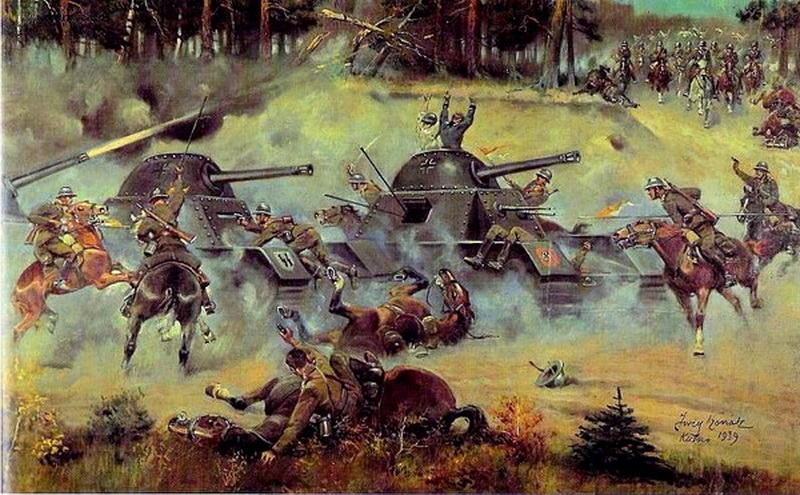 Bitva-pod-Kutno. Jerzy Kossak.1939