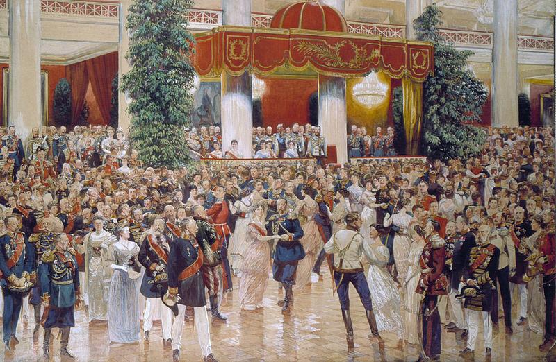 Д.Н. Кардовский. Бал в Петербургском Дворянском собрании 1913