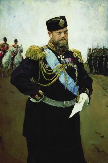 Валенин Серов. Портрет Александра III с рапортом в руках. 1900 г.